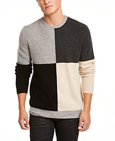 Men's Regular-Fit Colorblocked Cashmere Sweater, Created for Macy's