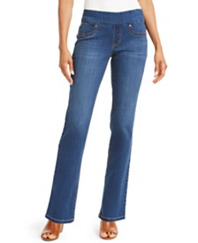 Style & Co Straight-Fit Pull-On Jeans, Created for Macy's