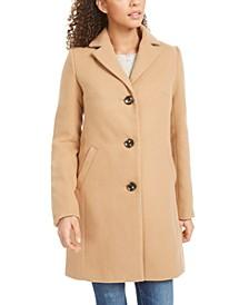 Juniors' Plaid Walker Coat