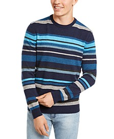 Men's Regular-Fit Stripe Cashmere Sweater, Created for Macy's