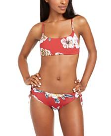 Roxy Juniors' Beach Classics Printed Bralette Bikini Top & Printed Bikini Bottoms