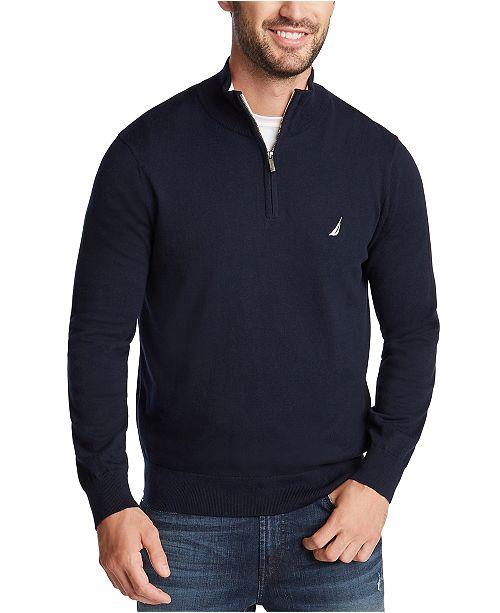 Nautica Men's Classic-Fit Navtech Quarter-Zip Sweater