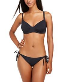 Roxy Juniors' Beach Classics Underwire Bikini Top & Side-Tie Bikini Bottoms
