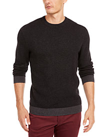Tasso Elba Men's Supima Cotton Crewneck Sweater, Created for Macy's