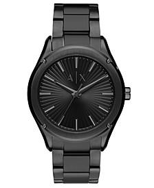 Men's Fitz Black Stainless Steel Bracelet Watch 44mm