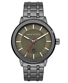 A|X Armani Exchange Men's Maddox Gunmetal Stainless Steel Bracelet Watch 46mm