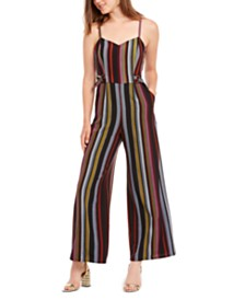 Be Bop Juniors' Striped Jumpsuit