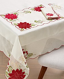 "CLOSEOUT! Kori Holiday Cutwork 60"" x 120"" Tablecloth"