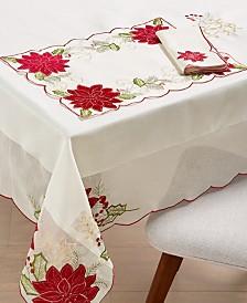 """Homewear Kori Holiday Cutwork 60"""" x 140"""" Tablecloth"""