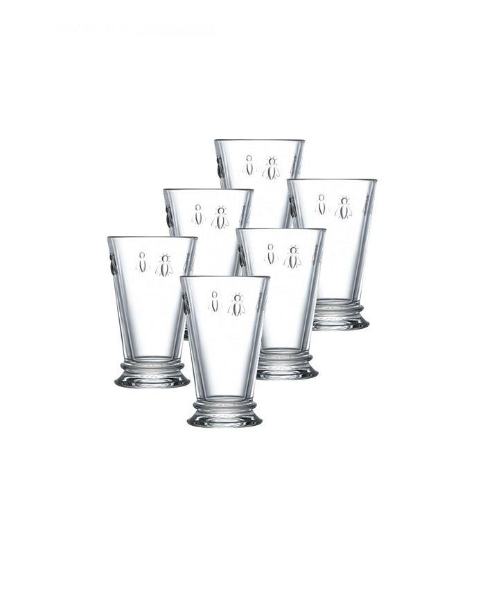 La Rochère - Set of 6 Napoleonic Bee Highball Glasses