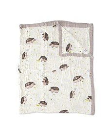 Little Unicorn Hedgehog Deluxe Muslin Big Kid Quilt