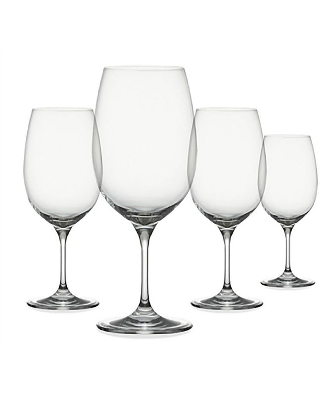 Oenophilia Clear Red Drinkware, Set of 4