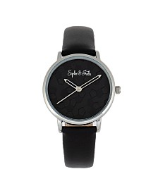 Sophie and Freda Breckenridge Genuine Leather Watches, 34mm