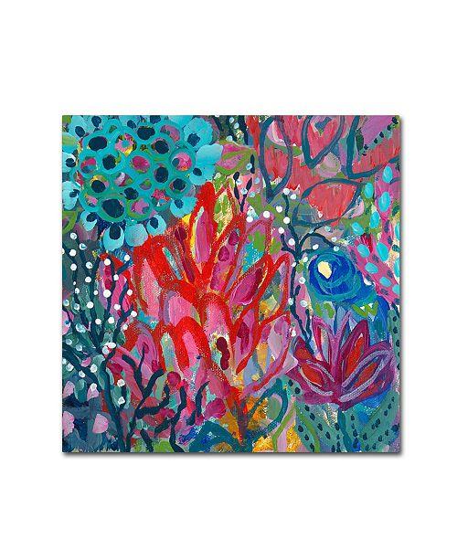 """Trademark Global Carrie Schmitt 'Prana' Canvas Art - 14"""" x 14"""""""