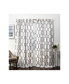 "Curtains Kochi Linen Blend Hidden Tab Top Curtain Panel Pair, 54"" x 84"""
