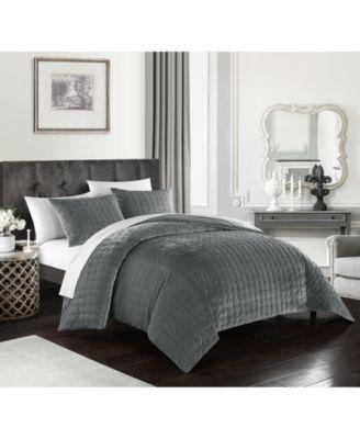 Chyna 3-Pc. King Velvet Comforter Set