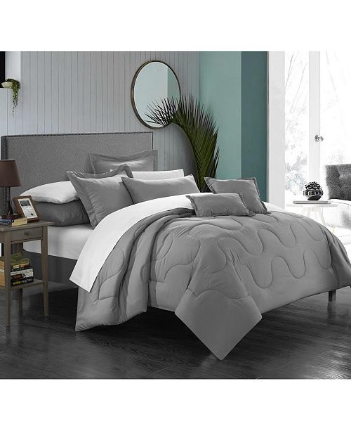 Chic Home Khaya 8-Pc. Twin Comforter Set