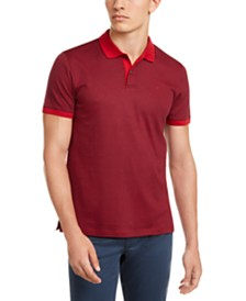 Calvin Klein Men's Liquid Touch Micro Stripe Polo Shirt