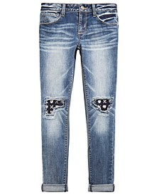 Big Girls Knee-Patch Jeans