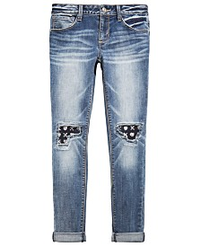 Vanilla Star Big Girls Knee-Patch Jeans
