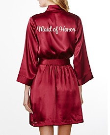 Wedding Prep Gals 'Maid of Honor' Embroidered Robe, Online Only