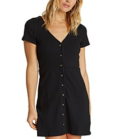 Juniors' On With It Button-Down Dress