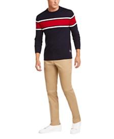 Calvin Klein Men's Merino Blend Colorblock Sweater