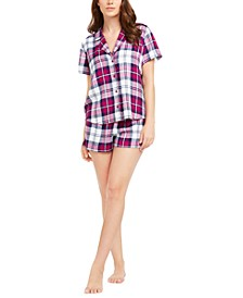 2-Pc. Printed Top & Shorts Pajama Set, Created for Macy's