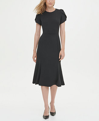 Short Sleeve Fit & Flare Dress by General