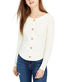 Juniors' Boat-Neck Ribbed Top