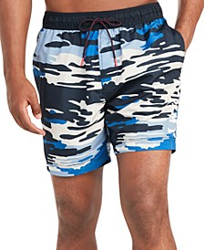 "Men's Evan Camo 6.5"" Swim Trunks, Created for Macy's"