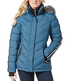 Free Country Quilted Jacket with Faux Fur Hood & Interior BiB