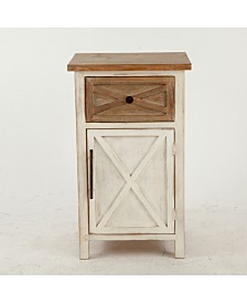 Luxen Home Rustic Antique Small Console Cabinet