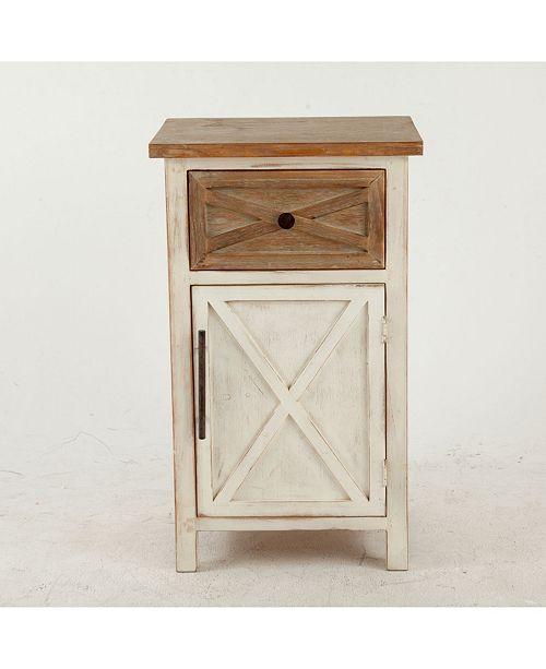 Luxen Home Rustic Antique Small Console Cabinet