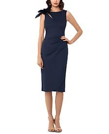 XSCAPE Embellished Cutout A-Line Dress