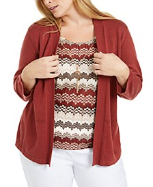 Plus Size Cedar Canyon Layered-Look Sweater