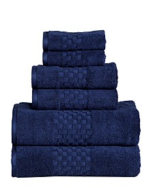 Feather and Stitch 6-Pc. Towel Set
