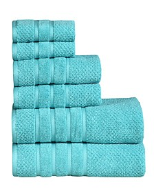 Feather and Stitch 6-Piece Towel Set