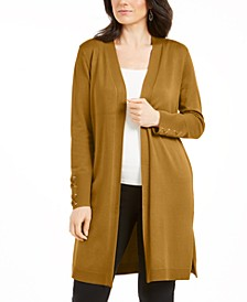 Petite Open-Front Duster Cardigan, Created for Macy's