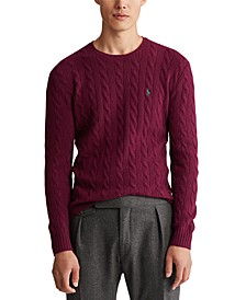 Men's Big & Tall Wool Cashmere Cable-Knit Sweater