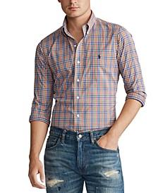 Men's Classic Fit Performance Plaid Twill Shirt
