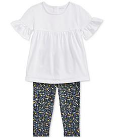 Baby Girls Ruffled Top & Floral Leggings