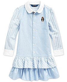 Toddler Girls Classic Oxford Shirtdress
