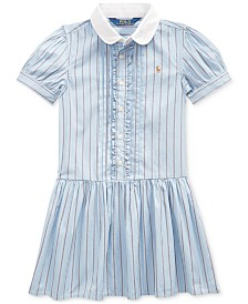 Polo Ralph Lauren Toddler Girls Cotton Shirting-Strip Dress