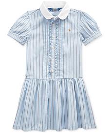 Polo Ralph Lauren Little Girls Cotton Shirting-Strip Dress