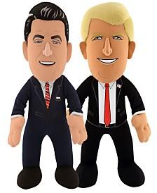 Bleacher Creatures Dynamic Duo - Donald Trump and Ronald Reagan Plush Figure Bundle