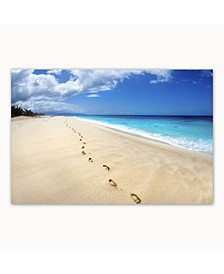 """- Footsteps On The Beach Canvas Art, 27"""" x 36"""""""