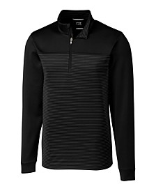 Cutter and Buck Men's Big and Tall Traverse Stripe Half Zip Sweatshirt