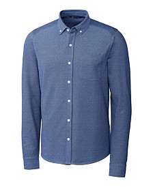 Cutter & Buck Men's Big & Tall Reach Oxford Button Front Long Sleeves Shirt