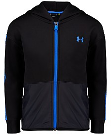 Under Armour Little Boys Pieced Wordmark Zip-Up Hoodie